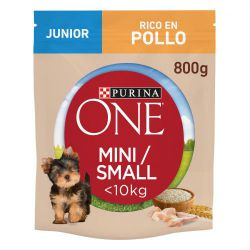 PURINA®  ONE®  Perro Junior Pollo  y Arroz 800g