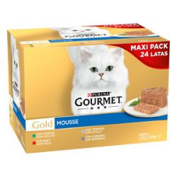 PURINA®  GOURMET® Gold   Mousse Pack Surtido 24x85g